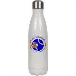 17oz White Stainless Steel Insulated Water SA TX