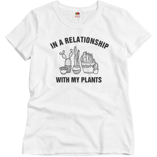 14bea6fe Simple Relationship With My Plants Ladies Relaxed Fit Basic Promo T-Shirt