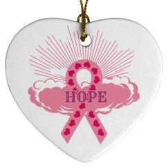 Pink Ribbon Of Hope Ornament