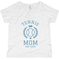 Custom Tennis Mom Plus V-Neck