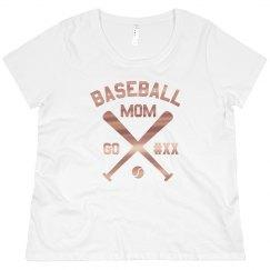 Custom Baseball Mom Metallic