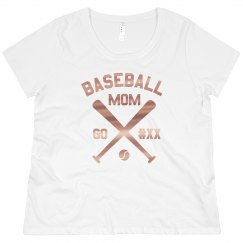 Custom Baseball Mom Metallic