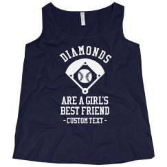 Diamonds Softball Baseball Plus Tank