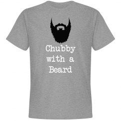 Chubby with a beard