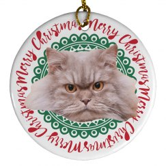 Create Your Own Photo Upload Ceramic Christmas Ornament