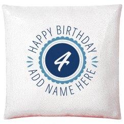 Unique 4th Birthday Gift Add Name