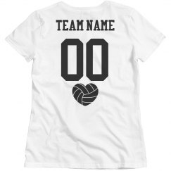 Personalized Volleyball Team Tee