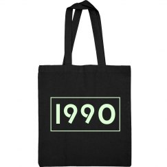 1990 Glow In The Dark Tote Bag