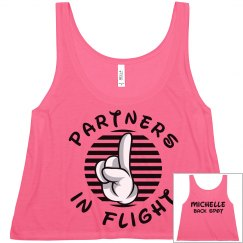 Matching Cheer Flight Partners Backspot Girl Crop