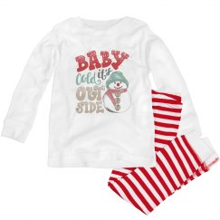 Baby it's cold outside pajamas for toddlers