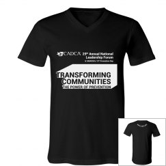 2019 National Leadership Forum V-Neck Men's- Black