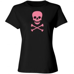 Pink skull and cross bones 100%