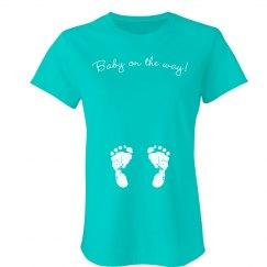 Baby On The Way Feet Tee