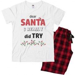 Family Matching Christmas Pajamas - I did try