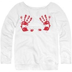 Bloody Handprints Sweater
