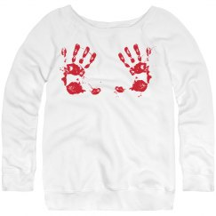 Bloody Handprints Sweater