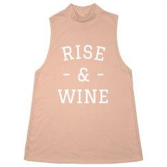 Rise & Wine Rose Gold Metallic Tank