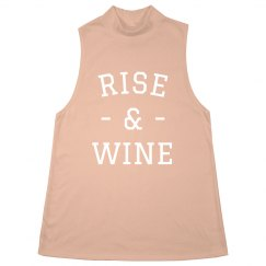 Rise & Wine Rose Gold Metallic Tank