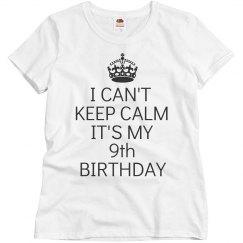 It's my 9th birthday