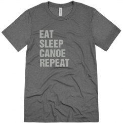 Eat sleep canoe repeat