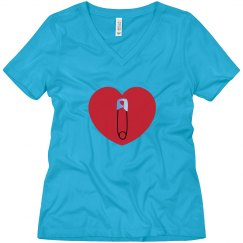SAFEty Pin V-Neck Tee