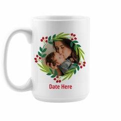 Baby Christmas Custom Date Mug