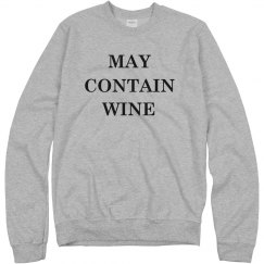 May Contain Wine Custom Text