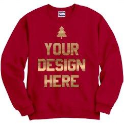 Gold Metallic Christmas Sweater