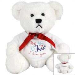 Red, White & Two - I Love You (Front AND Custom Back)