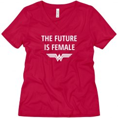 Future is Female Superhero Boyfriend Tee