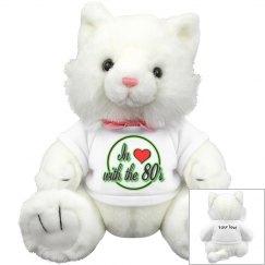 Love The 80's White Kitty