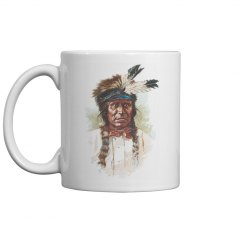 Blackfoot Sioux Chief: Red Thunder Coffee Mug