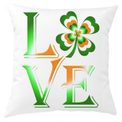 Love Ireland Clover, Pillow