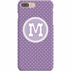 Purple Polka Dot Initial Monogram