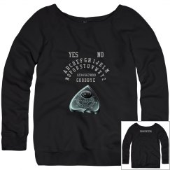 Ladies Wideneck Ouija Sweatshirt