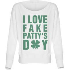 Love Fake Patty's Day Green