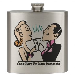 Martini - 6oz Stainless Steel Flask