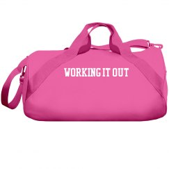 working it out gym bag