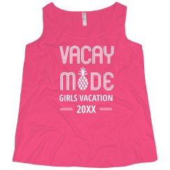 Girls Summer Vacation Custom Year