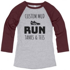 Ladies Relaxed Fit 3/4 Sleeve Raglan Tee