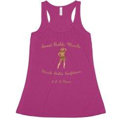 Sweat Builds Muscle women's Shirt