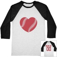 Proud and Cute Baseball Mom Jerseys To Customize