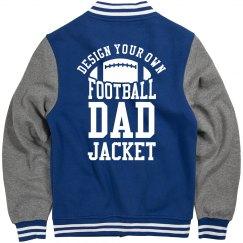 Custom Metallic Football Dad Jacket