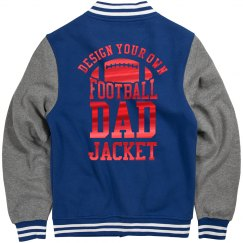 Custom Metallic Football Dad Jacket