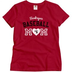 Basic Baseball Mom, Red