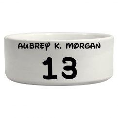 Aubrey K. Morgan Dog Bowl