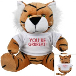 You're Grrreat Plush Tiger