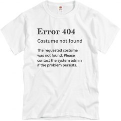 Error 404 Not Found Costume