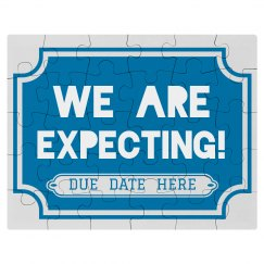 Custom Expecting Due Date Puzzle