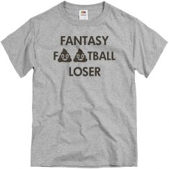 Fantasy Football Poop Emoji Loser